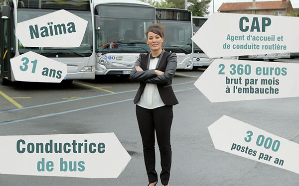 Conductrice de bus